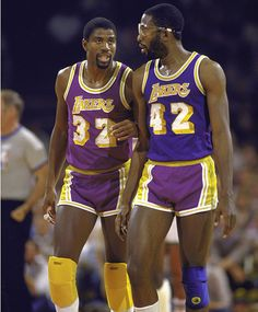 Magic Johnson and big game James Worthy! An unstoppable force in the Basketball Legends, Basketball Players, Sports Teams, Best Nba Players, Dodgers, Showtime Lakers, James Worthy, Basketball Pictures, Basketball Quotes
