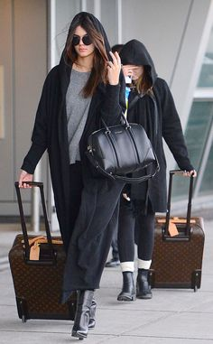 Kendall Jenner and Kylie Jenner with 2 Lovely Louis Vuitton Zephyr Suitcases Kendall's Bag Givenchy