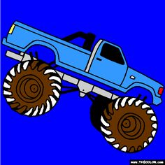 Monster-Truck-Coloring   Online Coloring Pages