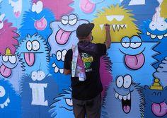 Work in progress by Kevin Lyons in Hawaii for @powwowworldwide #streetart #streetartnews @klyonsnatborn by streetartnews