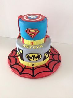 Superheroes | Superman | Batman | Captain America | Gallery | Sugar Divas Cakery | Orlando | Cupcakes | Custom Cakes  Www.sugardivascakery.com
