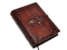 GothicSteampunk leather journal The Nautilus Ship's door dragosh