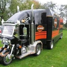 Trucking and Harley Davidson. Just go together.