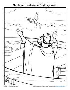 Noah Sent A Dove Coloring Page