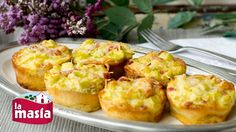 Mini quiches de calabacín, bacon y puerro