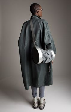 Issey Miyake Trench Coat and Bag Designer Vintage Fashion