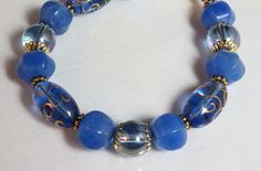 Cobalt Blue Gypsy Glass and Blue Jade by NancysCrystalFantasi, $27.00