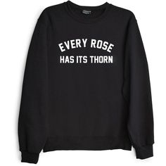 Private Party Women's Every Rose Has Its Thorn Sweatshirt ($32) ❤ liked on Polyvore featuring tops, hoodies, sweatshirts, black, night out tops, pullover top, rose top, going out tops and long sleeve going out tops