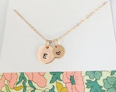 Rose Gold Initial Necklace, Initial Necklace, 14k Rose Gold Filled Necklace, Personalized Rose Gold Necklace, Rose Gold Jewelry, Mom