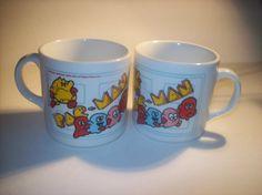 Vintage pacman mugs by TikTokArt on Etsy, $23.00