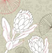Image associée Wildflower Drawing, Silk Painting, Drawings, Floral Art, Protea Art, Flower Drawing, Nature Sketch, Botanical Line Drawing, Art Display