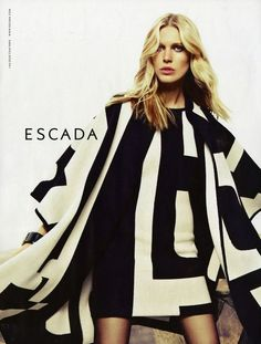 Gorgeous campaign -- Escada fall/winter 2012-2013 - featuring Iselin Steiro. Graphic print dress is FAB!