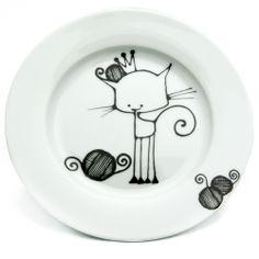 Ketto - Assiette Chat - Porcelaine à peindre