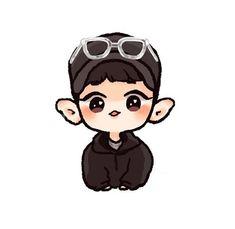 Chanyeol <credits to owner> Chanbaek Fanart, Baekhyun Fanart, Kpop Fanart, Chanyeol Cute, Park Chanyeol Exo, Kpop Exo, Kpop Drawings, Cute Drawings, Exo Stickers