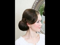 Wedding hair video - vintage side do, smooth with S curls