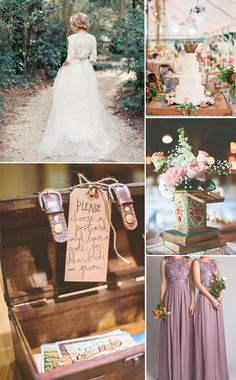 elegant lavender lace and chiffon bridesmaid dresses for vintage wedding ideas 2015