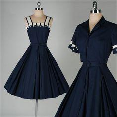 r e s e r v e d /// vintage 1950s dress . MYRON HERBERT . cotton 2-pc set . 3284