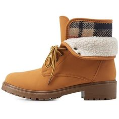 Charlotte Russe Tan Bamboo Flannel Lace-Up Booties by Bamboo at... (315 NOK) ❤ liked on Polyvore featuring shoes, boots, ankle booties, tan, lace up booties, army boots, combat booties, lace-up ankle booties and tan booties