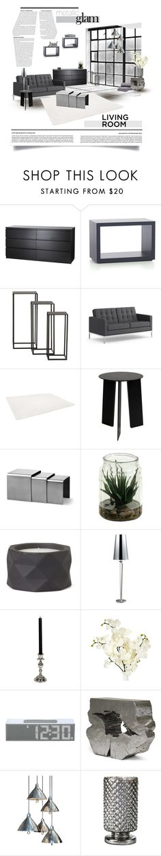 Living room 51 ♥ by morana-m on Polyvore featuring interior, interiors, interior design, home, home decor, interior decorating, Knoll, Dot & Bo, Crate and Barrel and Mitchell Gold + Bob Williams
