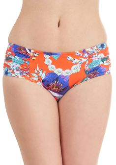 Swim There, Fun That Swimsuit Bottom. For the gal whos vacationed all over, this Seafolly swimsuit bottom offers a fresh look for your next getaway. #multi #modcloth