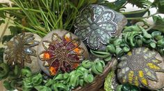 Sue's 'Rock Star' Mosaic Rocks