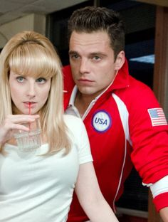 """""""Sebastian Stan with Melissa Rauch in The Bronze"""""""