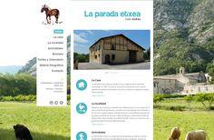 Desarrollo web para La Parada Etxea, casa rural en Abárzuza, Navarra - Calle Mayor Comunicación y Publicidad