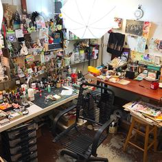 Day 3 (playing catch up) of the #marchmeetthemaker challenge! Today is #Workspace  I have 2 studios this one that I do my mixed media work in and one downtown that I paint in and open to the public on the First Friday of each month. The one above is tucked into a corner room in my basement. I love the feeling in this room if I'm stressed or having a bad day I just need 15 minutes in this creative clutter to center me and get me smiling again.  I shoot my @artbentobox videos and YouTube v...
