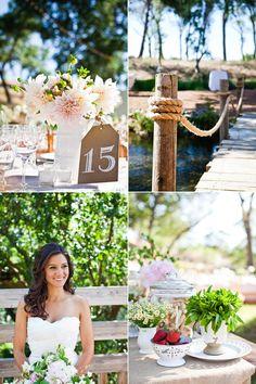 Meika & Joe | Shabby Chic Creekside Wedding | Snippet & Ink