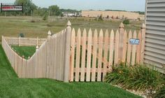 French Gothic Style Cedar Picket. All Fence Pics | Minneapolis St. Paul | Midwest Fence