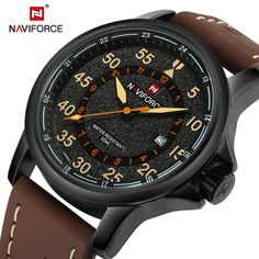 $33.98 (Buy here: https://alitems.com/g/1e8d114494ebda23ff8b16525dc3e8/?i=5&ulp=https%3A%2F%2Fwww.aliexpress.com%2Fitem%2FNAVIFORCE-Men-s-Brand-Fashion-Casual-Watches-men-3ATM-Waterproof-Quartz-Watch-Man-Leather-Military-Wristwatch%2F32689167502.html ) 2016 Brand Fashion Men Sport Watches Men's Quartz Clock Man Leather Strap Military Army Waterproof Wrist watch relogio masculino for just $33.98
