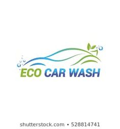 Vector logo template for eco car washing. Car wash icon isolated on white background. Car Wash, Logo Templates, Auto Detailing, Autos