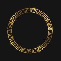 Golden round greek frame for design vector image on VectorStock Rundes Tattoo, Logo Rond, Vector Logos, Versace Wallpaper, Ribbon Logo, Versace Logo, 3d Cnc, Gold Ornaments, Ornaments Design