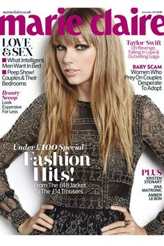 Taylor Swift for Marie Claire- November 2012