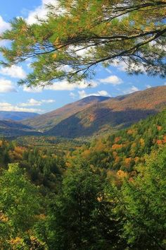 Green Mountains in Vermont.