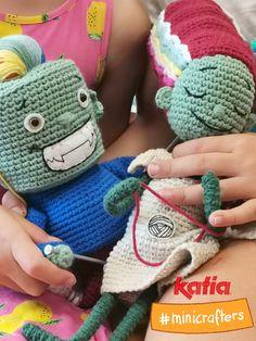 Amigurumi Challenge with Lana & Ovi, Katia's Minicrafters Crochet Hats, Challenges, Halloween, Cotton, Fashion, Amigurumi Patterns, Knitting Hats, Moda, Fashion Styles