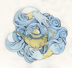 Robin Williams Illustrations Tattoos by Kate Delaney, via Behance
