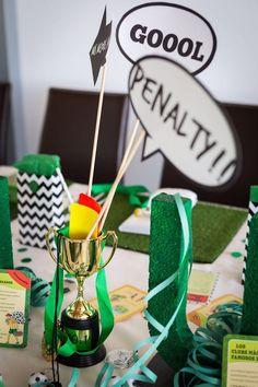 decoracion fiesta infantil futbol exquisitae