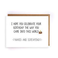 funny birthday gift for mom, handmade greeting card for dad, happy birthday husband, birthday gift boyfriend, best friend birthday Sarcastic Birthday Meme, Happy Birthday Meme, Funny Birthday Cards, Handmade Birthday Cards, Birthday Quotes, It's Your Birthday, Handmade Cards, Birthday Humor Cards, Birthday Greetings
