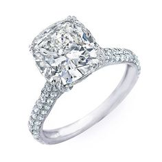 cushion cut engagement rings - Google Search cut diamond, diamonds, dream, asscher cut, engagements, cushions, engag ring, cushion cut, engagement rings