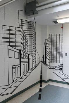 April's 2D Art Blog: 2D One-Point Perspective Tape Project