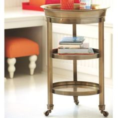 Addison Tray Table    European-Inspired Home Furnishings    Ballard Designs. Also in a pewter finish.