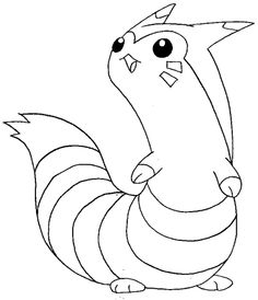 How To Draw Furret From Pokemon With Easy Steps Drawing Lesson