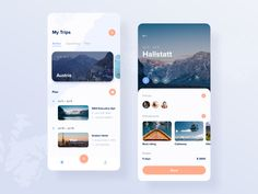 Trip planner app concept by Anna Truong for Fireart Studio on Dribbble App Ui Design, Mobile App Design, Interface Design, Mobile Ui, Travel Planner, Trip Planner, Android App Design, Software Apps, App Design Inspiration
