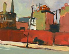 North Philly Street by Arcenio Martin Campos (bright red orange, duller greens, greys