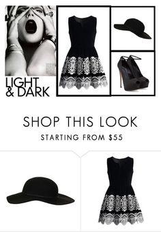 """LIGHT&DARK"" by rarakanyaka ❤ liked on Polyvore featuring GE, Topshop, Chicwish and Giuseppe Zanotti"