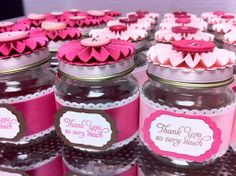 Studio H2Os: Baby Food Jar Party Favors  Cupcake Toppers
