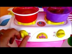 Baby Cooking Velrco Toys Cutting, Kitchen Playset and Play Doh Fun Factory Noodle Soup Pizza Baking - YouTube