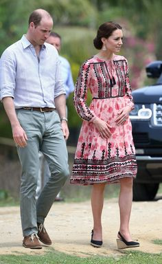 Kate wearing a Topshop dress