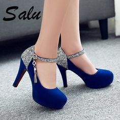 Buy it before it ends. There is always many products on sae upto 75 salu shoes woman 2019 Women Pumps Fashion Classic High Heels Shoes Sharp Head Platform Wedding Women Dress Shoes Plus Size 3443 Pro Buyerz Pretty Shoes, Cute Shoes, Me Too Shoes, Girls Sneakers, Girls Shoes, Ladies Shoes, Shoes Women, Dress Shoes, Shoes Heels